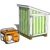 4x4 generator shed