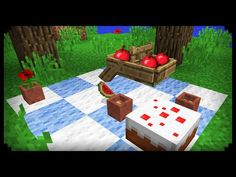 ✔ Minecraft: How to make a Picnic - YouTube