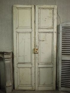 フランスアンティークドア白い建具ブロカント Antique door ¥136500yen 〆04月26日