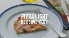 Pizza light de couve-flor   Receitas Saudáveis - Lucilia Diniz