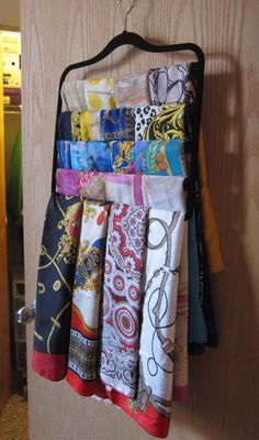 5 Great Ideas for Organizing Your Hijabs - Haute Hijab organization 5 Great Ideas for Organizing Your Hijabs Scarf Organization, Wardrobe Organisation, Storage Organization, Scarf Storage, Diy Storage, Storage Spaces, How To Store Scarves, Storing Scarves, Scarf Display