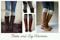 Boots and leg warmers, just bought black boots and leg warmers love them❤❤❤