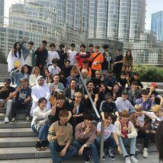 Can you spot Shinee? SM Family in Dubai K Pop, Exo Red Velvet, Park Ji Sung, Siwon, Do Kyung Soo, Kpop Exo, Kim Jong In, Tvxq, Park Chanyeol