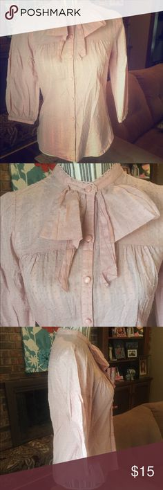 I ❤️ Ronson frilly Pink Top, Small I ❤️ Ronson frilly Pink Top, Medium. This top is a great addition to your closet and adds effortless feminine charm. Add some flair with a vest or layer on the pearls! All items cross listed.  No trades.  I do bundle discounts! Tops Blouses