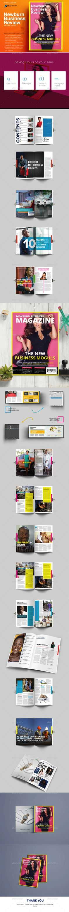 Newburn Marketing \/ Technology Magazine InDesign Template - business review template