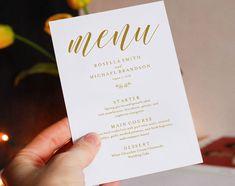 Navy Blue Wedding Menu Template Wedding Dinner Menu Rustic