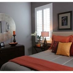 Attirant Bedroom Design Ideas, Pictures, Remodels And Decor · Orange BedroomsGrey ...