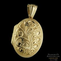 Charles Green Jewelry - Charles Green 18kt yellow gold engraved locket