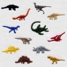 "3/4"" Teeny Dinosaur Mini Designs"