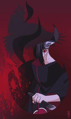 Itachi Akatsuki discovered by 🔥 Fire Moon 🌙 on We Heart It Naruto Shippuden Sasuke, Naruto Kakashi, Anime Naruto, Itachi Akatsuki, Wallpaper Naruto Shippuden, Naruto Cute, Naruto Wallpaper, Boruto, Gaara