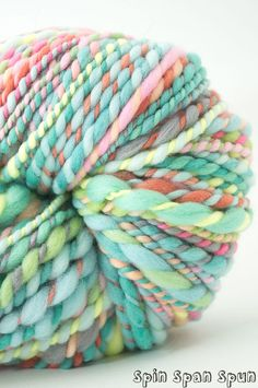 http://www.aliexpress.com/store/1687168 Green Happy Sheep Chunky HandSpun and Hand Painted by SpinSpanSpun, $77.00