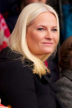 Crown Princess Mette-Marit attends with two of her children, Princess Ingrid Alexandra and Prince Sverre Magnus the Save The Children's Peace Prize Festival in Oslo on December 10, 2014 in Oslo, Norway