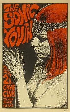 Sonic Youth Concert by Frank Kozik 1987