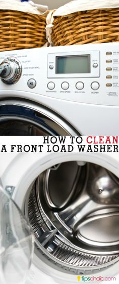 How to Clean a Front Loader Washing Machine - Tipsaholic Smelly Washing Machines, Clean Your Washing Machine, Cleaning Recipes, Cleaning Hacks, Fee Du Logis, Household Cleaners, Household Tips, Front Load Washer, Doing Laundry