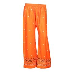 Indian Handicrfats Export Indistar Regular Fit Women Orange Trousers