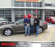 #HappyAnniversary to Rogelio Navarro on your 2013 #Kia #Optima from Everyone at Westside Kia!