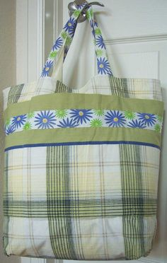 DIY tote bag using 2 pillowcases