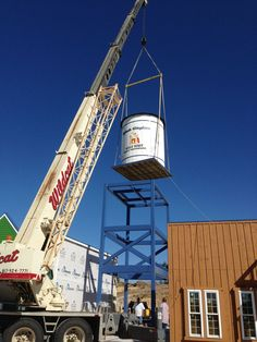 Putting the water tower on for our front entrance! Splash Kingdom Waterpark Wild West in Hudson oaks, TX
