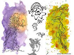 TillyFoO artiste dessin à la plume calligraphique et autres techniques, auquarelle, huile sur toile, galerie magnifique !