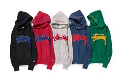 """Shirts To Match: Stussy x Champion Japan 2014 Fall/Winter """"Reverse Weave"""" Collection*~ Hoodie Jacket, Sweater Hoodie, Urban Fashion, Mens Fashion, Fall Swags, Hood By Air, Fall Winter 2014, Stussy, Clothes Horse"""