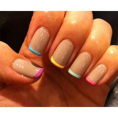 Colorful French Tips