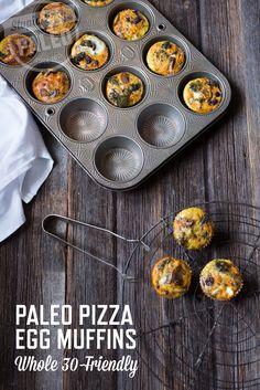 Paleo Pizza Egg Muffins