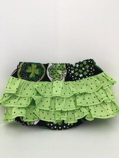 St. Patrick's Day Shamrock Greens Ruffle Bloomer Diaper Cover Baby and Toddler Girl - YOU CHOOSE SIZE by LuluandDru on Etsy