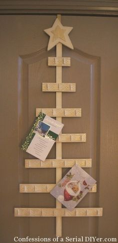 How to Make a Christmas Tree Card Holder   Confessions of a Serial Do-it-Yourselfer