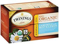 Twinings Camomile with Mint and Lemon Organic Tea, 20 Count Tea Bags - http://goodvibeorganics.com/twinings-camomile-with-mint-and-lemon-organic-tea-20-count-tea-bags/