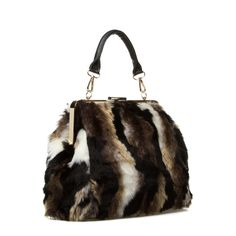 Glendive - ShoeDazzle - Stay cozy chic with this faux- fur handbag.