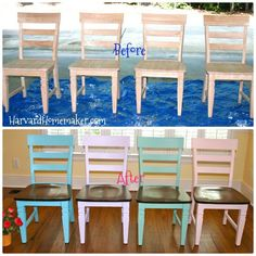 Do It Yourself: Painted Chairs.  Easy-to-follow guide with picture tutorial.