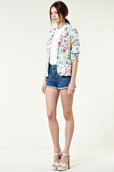 warehouse floral jacket $47