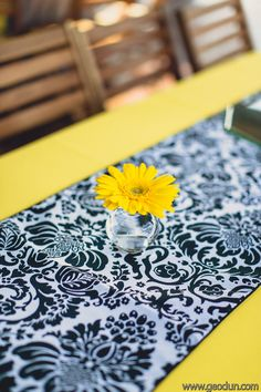 Gerber Daisy Centerpiece | Floral, Decor &  Lighting by Disch Events | www.DischEvents.com | Austin Wedding Florist