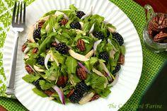 The Café Sucré Farine: Arugula & Chicken Salad w/ Blackberries, Sweet Curried Pecans & Honey-Grapefruit Vinaigrette