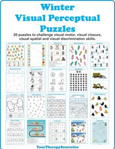 9 Visual Perception Worksheet for Kids Winter Visual Perceptual Puzzles √ Visual Perception Worksheet for Kids . 9 Visual Perception Worksheet for Kids . Winter Visual Perceptual Puzzles in Worksheets For Kids Visual Perceptual Activities, Occupational Therapy Activities, Vision Therapy, Special Education Classroom, Worksheets For Kids, Winter Activities, The Book, Puzzles, Perception