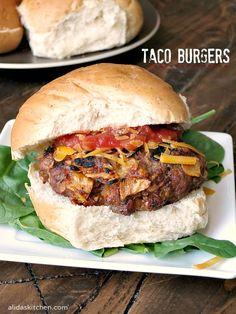 Taco Burgers | alidaskitchen.com #SundaySupper #GrillTalk