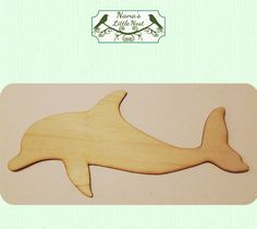 Dolphin Wood Cut Out - Laser Cut Wood on Etsy, $5.50