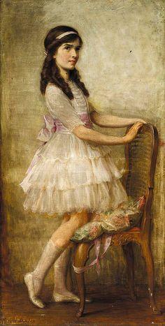 "Herbert James Draper (1864-1920), ""PORTRAIT OF MISS BARBARA DE SELINCOURT"""