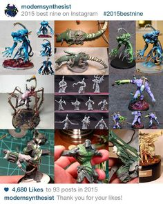 I guess 4.6k isn't bad for having started 3 months ago. Thank you all for your love and inspiration. It's what keeps me motivated to crank out models! Also check out @hydraascendant as he put me on to this whole #bestnineoninstagram2015 thing.  #warmongers #modernsynthesist #warhammer40k #gamesworkshop #gw #hobby #tabletopgaming #twitter #warhammer