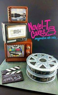 TV cake....cake TV - Cake by Novel-T Cakes
