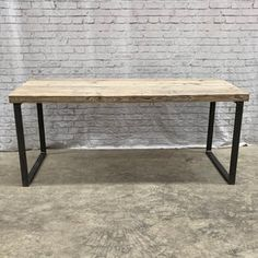 Reclaimed Industrial Chic Dining Table Bar Cafe Restaurant | Etsy Steel Dining Table, Dining Room Table, A Table, Timber Wood, Wood And Metal, Solid Wood, Grey Ikea Kitchen, Rustic Kitchen, Kitchen Dining
