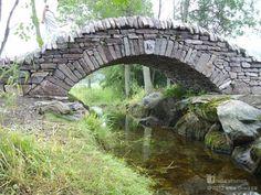 Stone arch bridge.