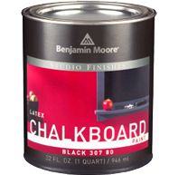 Not just black Chalkboard Paint. Multiple colours available.