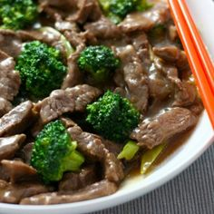 Beef and Broccoli. A Landon fave, kind of like a cheat meal but not too bad.