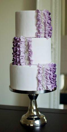 Рюшечки на тортике