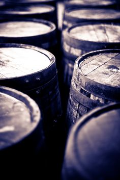 Whisky barrels. Laphroaig, Islay, Scotland
