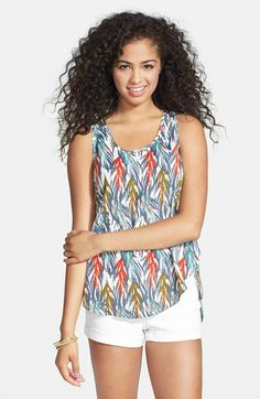Lush Print High/Low Tank (Juniors) available at #Nordstrom