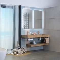 Mušle i kamínky, co jste si přivezli z vašich cest, do koupelny patří. K tomu barvy připomínající mořskou hladinu i písečné pláže a každé ráno vám bude odměnou svěžest a příjemná nálada podporující pocit hřejivé pohody. Bathroom Lighting, Pastel, Mirror, Furniture, Design, Home Decor, Bathroom Light Fittings, Bathroom Vanity Lighting, Cake
