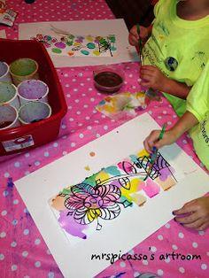 mrspicasso's art room: Butterflies & Blooms- Mini Art Camp #2