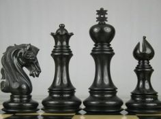 Triple Weighted Chess Set 4Q Ebony Wood without Board. http://www.chessbazaar.com/chess-pieces/wooden-chess-pieces/triple-weighted-chess-set-4q-ebony-wood-without-board.html